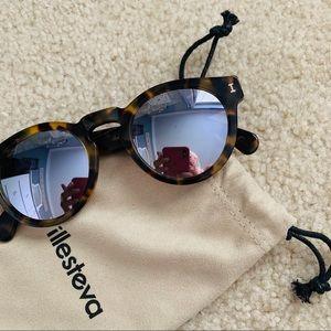 Illesteva Leonard Silver Sunglasses